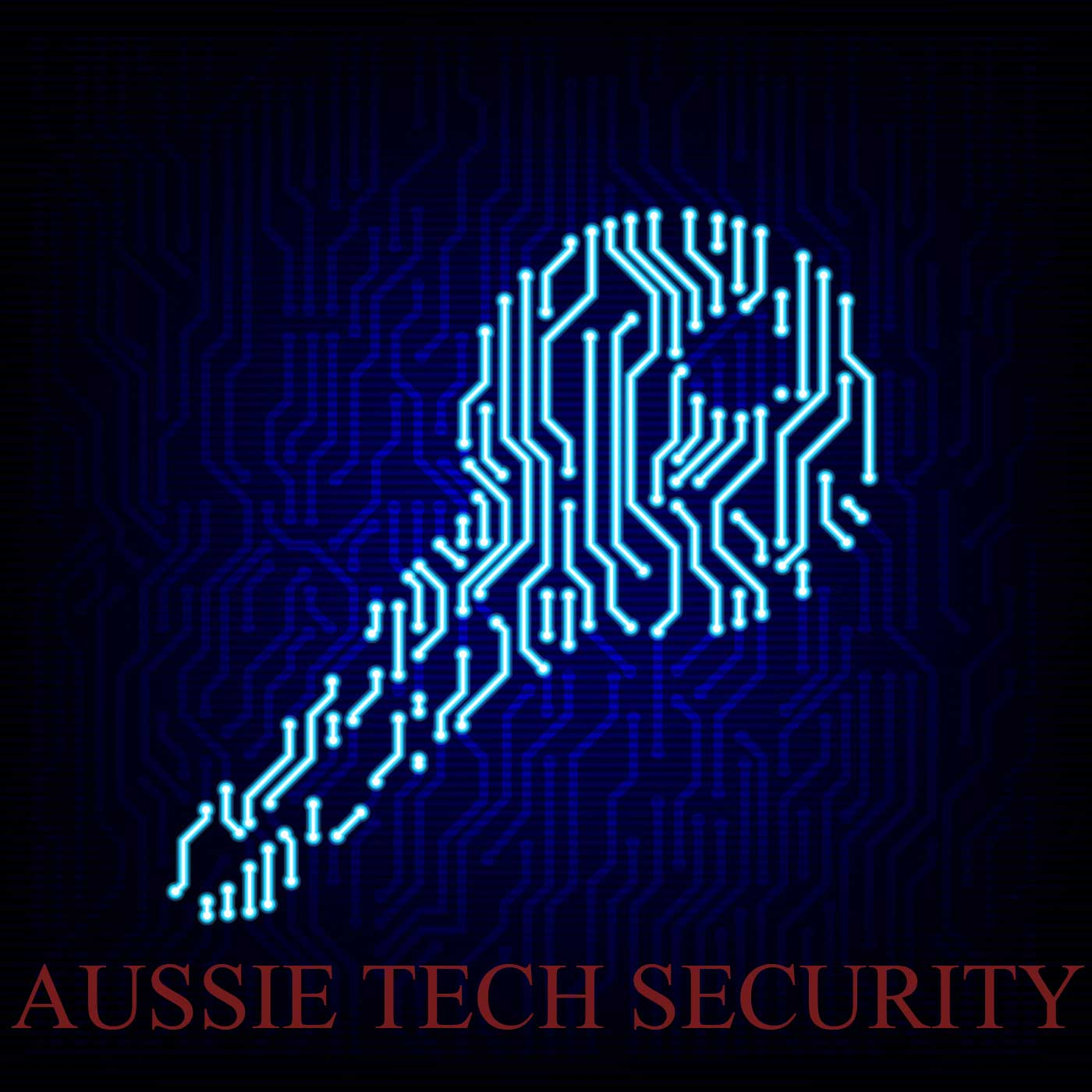 Aussie Tech Security Ozpodcasts Circuit Board Vector Illustration Royalty Free Stock Image